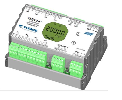 VMI10-P: Conversor multiponto de sinal analógico para PROFIBUS-PA
